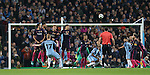 Kevin De Bruyne of Manchester City score the second goal during the Champions League Group C match at the Etihad Stadium, Manchester. Picture date: November 1st, 2016. Pic Simon Bellis/Sportimage