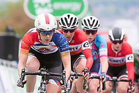 Picture by Allan McKenzie/SWpix.com - 15/05/2018 - Cycling - OVO Energy Tour Series Womens Race - Round 2:Motherwell - Beth Crumpton leads the field.
