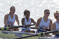 Rotterdam. Netherlands. GBR BMW8+ Cox, Sasha Adwani, joins the crew to row back to the boathouse.     2016 JWRC, U23 and Non Olympic Regatta. {WRCH2016}  at the Willem-Alexander Baan.   Friday  26/08/2016 <br /> <br /> [Mandatory Credit; Peter SPURRIER/Intersport Images]
