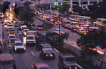 TRAFFIC POLLUTION, Philippines. Traffic jams pollute the city at all hours. Most   cars, buses  or jeepneys  have very bad pollution levels, with  high  levels of exhaust fumes and no catalytic filters. There  is a heavy cloud of smog above the city 24 hours a day.