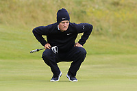 MArcus Kinhult (SWE) on the 13th green during Thursday's Round 1 of the 2018 Dubai Duty Free Irish Open, held at Ballyliffin Golf Club, Ireland. 5th July 2018.<br /> Picture: Eoin Clarke | Golffile<br /> <br /> <br /> All photos usage must carry mandatory copyright credit (&copy; Golffile | Eoin Clarke)