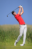 Devin Morley (Oughterard) on the 10th tee during Round 4 of the East of Ireland Amateur Open Championship 2018 at Co. Louth Golf Club, Baltray, Co. Louth on Monday 4th June 2018.<br /> Picture:  Thos Caffrey / Golffile<br /> <br /> All photo usage must carry mandatory copyright credit (&copy; Golffile | Thos Caffrey)