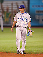 Omaha Royals Andres Blanco #13 during the Triple-A All-Star Game at Fifth Third Field on July 12, 2006 in Toledo, Ohio.  (Mike Janes/Four Seam Images)
