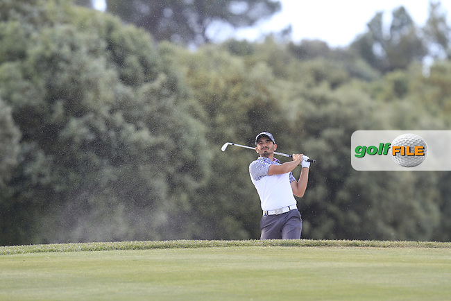 Jerome Lando Casanova (FRA) on the 16th fairway during Round 2 of the Open de Espana  in Club de Golf el Prat, Barcelona on Friday 15th May 2015.<br /> Picture:  Thos Caffrey / www.golffile.ie