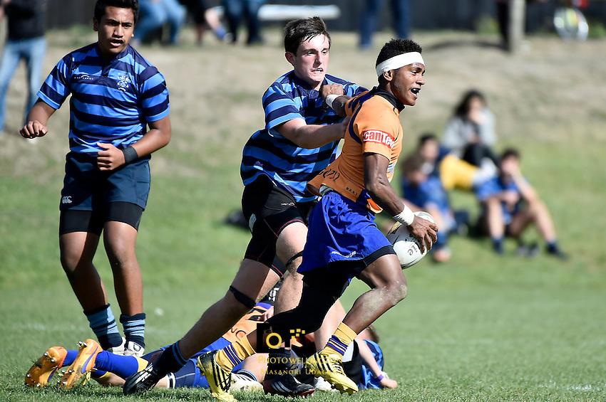 College Rugby - Rongotai College v Nelson College at Rongotai College, Wellington, New Zealand on Saturday 16 April 2016. <br /> Photo by Masanori Udagawa. <br /> www.photowellington.photoshelter.com.