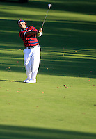 Patrick Reed (Team USA) on the 15th during Saturday afternoon Fourball at the Ryder Cup, Hazeltine National Golf Club, Chaska, Minnesota, USA.  01/10/2016<br /> Picture: Golffile | Fran Caffrey<br /> <br /> <br /> All photo usage must carry mandatory copyright credit (&copy; Golffile | Fran Caffrey)