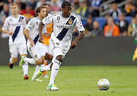 CARSON, CA - DECEMBER 01, 2012:   Edson Buddle (14) of the Los Angeles Galaxy against the Houston Dynamo during the 2012 MLS Cup at the Home Depot Center, in Carson, California on December 01, 2012. The Galaxy won 3-1.
