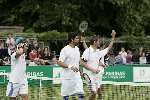 18.06.2011 The BNP Paribas Tennis Classic from the Hurlingham Club in London. Enqvist and Leconte v Cash and Philippoussis.