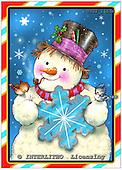 GIORDANO, CHRISTMAS SANTA, SNOWMAN, WEIHNACHTSMÄNNER, SCHNEEMÄNNER, PAPÁ NOEL, MUÑECOS DE NIEVE, paintings+++++,USGI1663M,#X#
