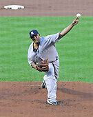 New York Yankees pitcher C.C. Sabathia (52) pitches in the second inning against the Baltimore Orioles at Oriole Park at Camden Yards in Baltimore, Maryland on Monday, May 20, 2013..Credit: Ron Sachs / CNP.(RESTRICTION: NO New York or New Jersey Newspapers or newspapers within a 75 mile radius of New York City)