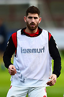 Fleetwood Town's Ched Evans warms up<br /> <br /> Photographer Richard Martin-Roberts/CameraSport<br /> <br /> The EFL Sky Bet League One - Fleetwood Town v Portsmouth - Saturday 29th December 2018 - Highbury Stadium - Fleetwood<br /> <br /> World Copyright &not;&copy; 2018 CameraSport. All rights reserved. 43 Linden Ave. Countesthorpe. Leicester. England. LE8 5PG - Tel: +44 (0) 116 277 4147 - admin@camerasport.com - www.camerasport.com