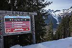 Descending to base of Ischgl Ski Area, Austria