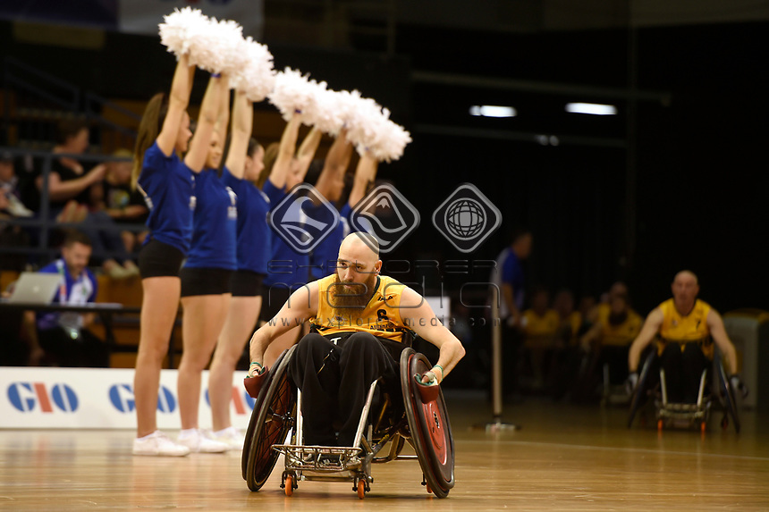 Opening Ceremony - Michael Ozanne (Aus)<br /> Australian Wheelchair Rugby Team<br /> 2018 IWRF WheelChair Rugby <br /> World Championship / Day 1<br /> Sydney  NSW Australia<br /> Sunday 5th August 2018<br /> © Sport the library / Jeff Crow / APC