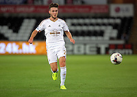 Pictured: Matt Grimes of Swansea Tuesday 25 August 2015<br /> Re: Capital One Cup, Round Two, Swansea City v York City at the Liberty Stadium, Swansea, UK.