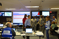 August 30, 2011 (Bethesda, MD)  Maryland Lt. Governor Anthony G. Brown and Montgomery County Executive Ike Leggett toured a Pepco Control Center with Pepco's President Thomas H. Graham.  The Center is a hub where Pepco's master computers are located, and where power to and from various points within the region can be controlled during an emergency.    (Photo by Don Baxter/Media Images International)