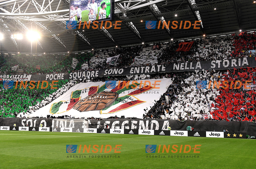 coreografia tifosi Juventus<br /> Torino 14-05-2016 Stadio Olimpico Football Calcio Serie A 2015/2016 Juventus-Sampdoria. Foto Matteo Gribaudi / Image Sport / Insidefoto