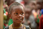A girl at the Catholic Church-sponsored Abangite Nursery School in Yambio, South Sudan.