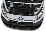 Car Stock 2013 Toyota Proace Comfort 5 Door Cargo Van Engine high angle detail view