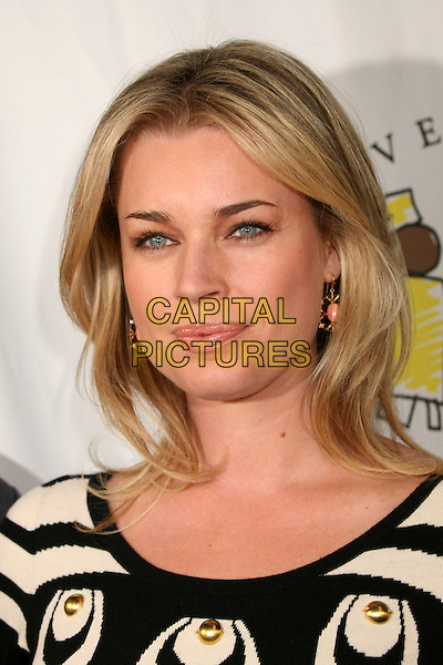 REBECCA ROMIJN.Attending the ?I Have a Dream? Foundation's 9th Annual Gospel Brunch and ?Dream Keeper Awards? at the House of Blues, West Hollywood, California, USA, .28 January 2007..portrait headshot black and white cream patterned dress.CAP/ADM/BP.©Byron Purvis/AdMedia/Capital Pictures.