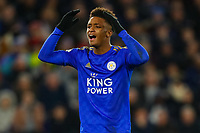 11th January 2020; King Power Stadium, Leicester, Midlands, England; English Premier League Football, Leicester City versus Southampton; Demarai Gray of Leicester City rues a missed opportunity - Strictly Editorial Use Only. No use with unauthorized audio, video, data, fixture lists, club/league logos or 'live' services. Online in-match use limited to 120 images, no video emulation. No use in betting, games or single club/league/player publications