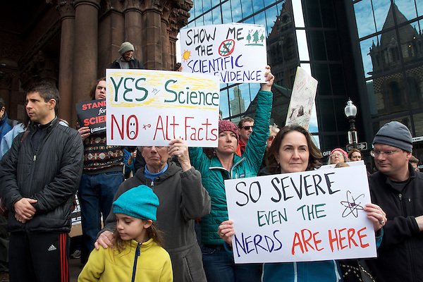 Stand up for Science Rally at Copley Square Boston 2.19.17