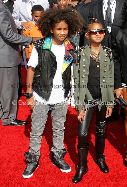 Jaden Smith and Willow Smith arrives at the 2010 BET Awards at the Shrine Auditorium in Los Angeles, California on June 27,2010                                                                               © 2010 Hollywood Press Agency
