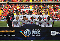 BOGOTÁ - COLOMBIA, 12-01-2019:Formació n del América de Cali ante el Independiente Santa Fe  durante primer  partido del Torneo Fox Sport 2019 jugado en el estadio Nemesio Camacho El Campín de la ciudad de Bogotá. / Team of America de Cali  agaisnt of Independiente Santa Fe    during the  first match of the Fox Sport 2019 Tournament played at the Nemesio Camacho El Campin Stadium in Bogota city. Photo: VizzorImage / Felipe Caicedo / Staff.