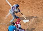 29 April 2017: New York Mets catcher Rene Rivera pinch hits in the 9th inning against the Washington Nationals at Nationals Park in Washington, DC. The Mets defeated the Nationals 5-3 to take the second game of their 3-game weekend series. Mandatory Credit: Ed Wolfstein Photo *** RAW (NEF) Image File Available ***