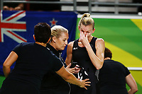 Katrina Grant of New Zealand in tears after losing to England. Gold Coast 2018 Commonwealth Games, Netball, New Zealand Silver Ferns v England, Gold Coast Convention and Exhibition Centre, Gold Coast, Australia. 11 April 2018 © Copyright Photo: Anthony Au-Yeung / www.photosport.nz /SWpix.com