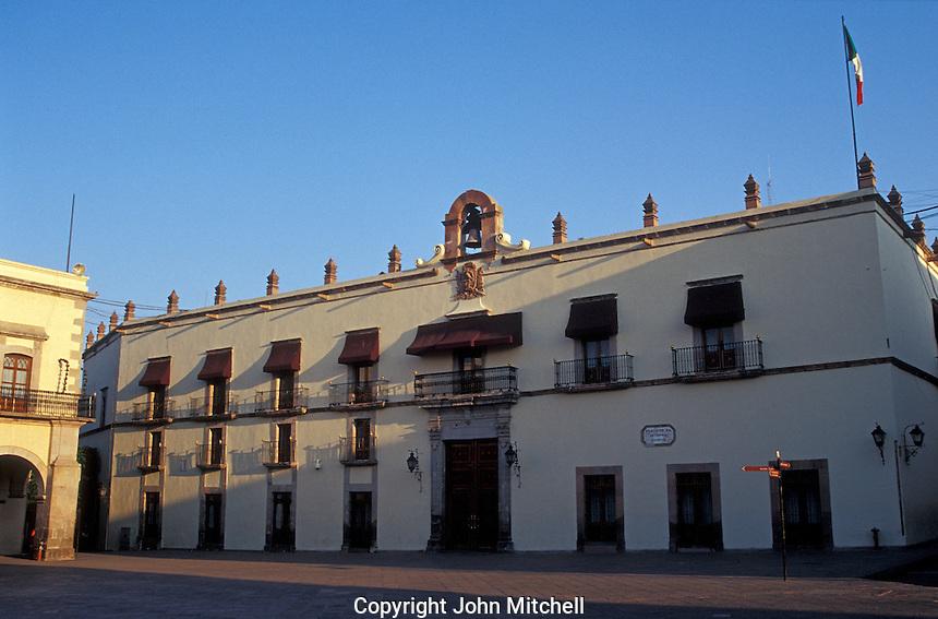 The Palacio de Gobierno or Casa de la Corregidora in the city of Queretaro, Mexico. The historic centre of Queretaro is a UNESCO World Heritage Site.
