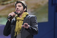 "Patrick Fiori performs at the ""Paris-Quebec"" show of the 44th Festival d'ete de Quebec on the Plains of Abraham in Quebec city Thursday July 7, 2011."