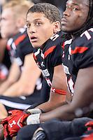 Texas Tech quarterback Patrick Mahomes (5) during an NCAA Football game, Saturday, November 29, 2014 in Arlington, Tex. Baylor defeated Texas Tech 48-46. (Mo Khursheed/TFV Media via AP Images)