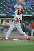 Memphis Redbirds Nick Martini (70) swings during the Pacific Coast League game against the Iowa Cubs at Principal Park on June 6, 2016 in Des Moines, Iowa.  Memphis won 6-2.  (Dennis Hubbard/Four Seam Images)