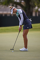 Nelly Korda (USA) sinks her par putt on 4 during round 3 of the 2019 US Women's Open, Charleston Country Club, Charleston, South Carolina,  USA. 6/1/2019.<br /> Picture: Golffile | Ken Murray<br /> <br /> All photo usage must carry mandatory copyright credit (© Golffile | Ken Murray)