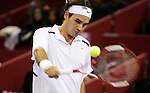 Switzerland's Roger Federer during his Madrid Masters Series tennis tournament match against Chile's Nicolas Massou at Madrid Arena, Tuesday 17 October, 2006. (ALTERPHOTOS/Alvaro Hernandez).
