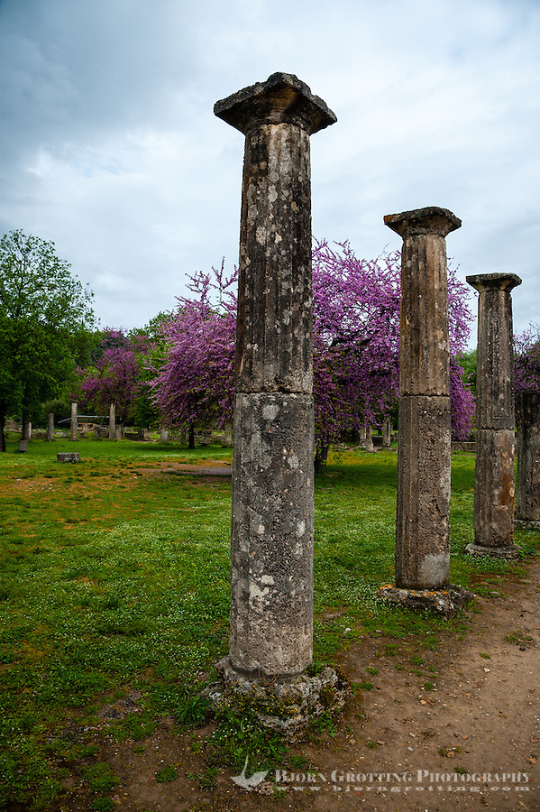 Olympia, Greece. The site of the Olympic Games in classical times. The Palaestra.