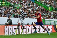 LISBOA, PORTUGAL, 18 DE AGOSTO 2015 - UEFA CHAMPIONS LEAGUE - SPORTING X CSKA - jogador Andre Carrillo durante o jogo do Play-Off da UEFA Champions League, em Lisboa, Portugal. (Foto: Bruno de Carvalho - Brazil Photo Press)