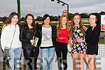 Enjoying the fundraising night for Glenderry NS at the Kingdom Greyhound Stadium on Saturday were, front l-r Katie Kearney,Shauna Dineen Higgins,Rachel Stack,Shauna Dineen,Emma O'Connell and Elaine Murphy