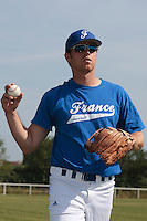 21 july 2010: Nicolas Dubaut of Team France is seen during a practice prior to the 2010 European Championship Seniors, in Neuenburg, Germany.