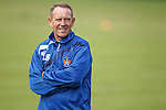 Kenny Shiels in good spirits as he watches his players sweat it out