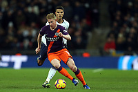 Erik Lamela of Tottenham Hotspur and Kevin De Bruyne of Manchester City during Tottenham Hotspur vs Manchester City, Premier League Football at Wembley Stadium on 29th October 2018