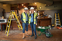 Licencees Mark Anderson and his wife Sarah on site at Bingham's White Lion pub, which is being refurbished and will reopen at the end of August
