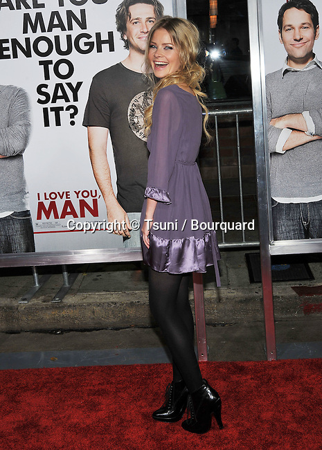 Anita Briem  -<br /> I Love You, Man Premiere at The Westwood Village Theatre in Los Angeles.