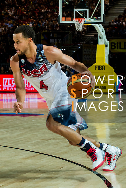 Stephen Curry of United States of America shooting  during FIBA Basketball World Cup 2014 group C between United States of America vs New Zeland  on September 02, 2014 at the Bilbao Arena stadium in Bilbao, Spain. Photo by Nacho Cubero / Power Sport Images