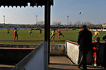 Stamford AFC 2 Marine 4, 29/03/2014. Wothorpe Road, Northern Premier League. The Northern Premier League game between Stamford AFC and Marine from The Daniels Stadium. Marine won the game 4-2 in front of 320 supporters to boost their chances of relegation survival. Stamford AFC are moving to the brand new Zeeco Stadium at the end of the 2013/14 season Photo by Simon Gill.