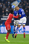 11.12.2018, VELTINS Arena, Gelsenkirchen, Deutschland, GER, UEFA Champions League, Gruppenphase, Gruppe D, FC Schalke 04 vs. FC Lokomotiv Moskva / Moskau<br /> <br /> DFL REGULATIONS PROHIBIT ANY USE OF PHOTOGRAPHS AS IMAGE SEQUENCES AND/OR QUASI-VIDEO.<br /> <br /> im Bild Zweikampf zwischen Eder (#24 Moskau) und Omar Mascarell (#6 Schalke), Naldo (#29 Schalke)<br /> <br /> Foto © nordphoto / Kurth