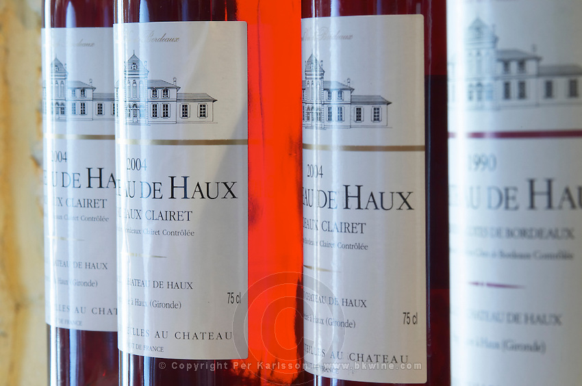 Rose wine with screwcap. Chateau de Haux, Bordeaux, France
