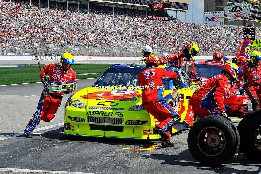 Mar 08, 2009; 1:31:21 PM; Hampton, GA, USA; NASCAR Sprint Cup Series race for the Kobalt Tools 500 at the Atlanta Motor Speedway.  Mandatory Credit: (thesportswire.net)