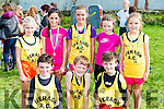 Iveragh AC runners at the Kerry Cross Country championships in Firies on Sunday front row l-r:Donagh o'sullivan, adam Quigley, Marcus Draper. Back row: Clodagh Dwyer, Holly galvin, Aoife Dwyer, Marie Claire Daly, Muireann teahan