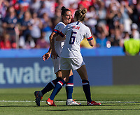 PARIS,  - JUNE 16: Ali Krieger #11 talks to Morgan Brian #6 during a game between Chile and USWNT at Parc des Princes on June 16, 2019 in Paris, France.